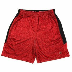 Russell Mens  Red Black Gym Athletic Shorts, 36
